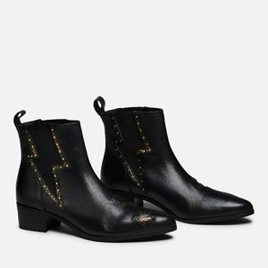 Vice Bolt (Black leather boot)
